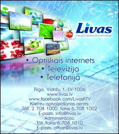 """""""Livas"""", SIA reklāma Saeimas un Valdības amatpersonu un politiķu kontaktinformācijas katalogā"""