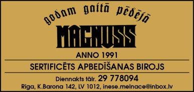 """""""Magnuss"""", apbedīšanas birojs reklāma Saeimas un Valdības amatpersonu un politiķu kontaktinformācijas katalogā"""