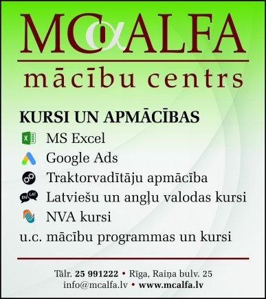 """""""MC Alfa"""", mācību centrs reklāma Saeimas un Valdības amatpersonu un politiķu kontaktinformācijas katalogā"""