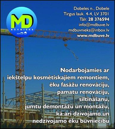 """""""MD Būvnieks"""", SIA reklāma Saeimas un Valdības amatpersonu un politiķu kontaktinformācijas katalogā"""