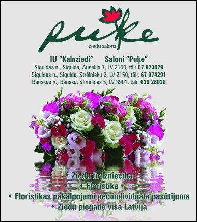 """""""Puķe"""", salons reklāma Saeimas un Valdības amatpersonu un politiķu kontaktinformācijas katalogā"""