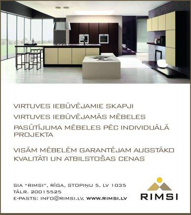 """""""Rimsi"""", SIA reklāma Saeimas un Valdības amatpersonu un politiķu kontaktinformācijas katalogā"""