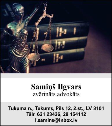 Samiņa I. zvērināta avokāta birojs reklāma Saeimas un Valdības amatpersonu un politiķu kontaktinformācijas katalogā