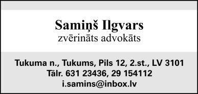 Samiņa I. zvērināta advokāta birojs reklāma Saeimas un Valdības amatpersonu un politiķu kontaktinformācijas katalogā