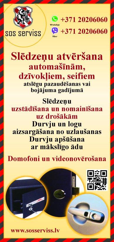 """""""Atslēgu un durvju serviss"""" reklāma Saeimas un Valdības amatpersonu un politiķu kontaktinformācijas katalogā"""