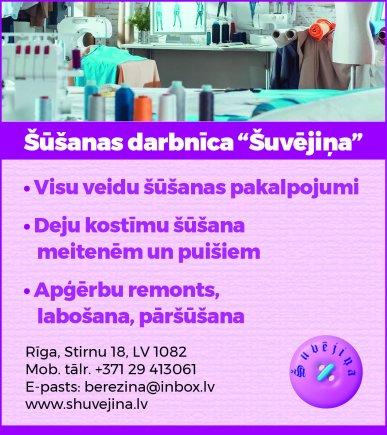 """""""Šuvējiņa"""", IK reklāma Saeimas un Valdības amatpersonu un politiķu kontaktinformācijas katalogā"""
