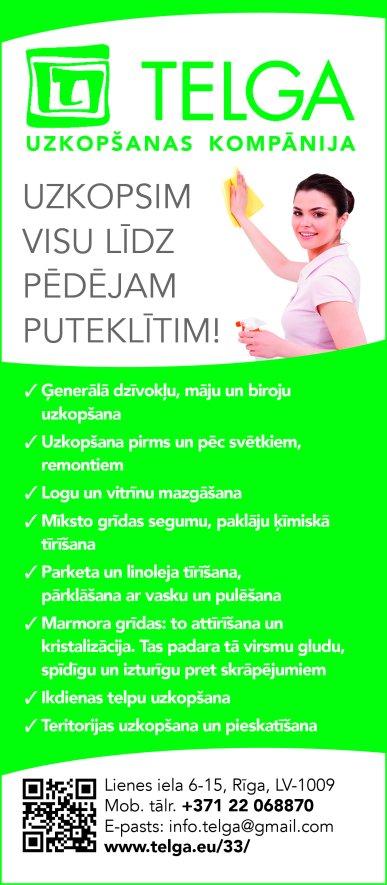 """""""Telga"""", SIA reklāma Saeimas un Valdības amatpersonu un politiķu kontaktinformācijas katalogā"""