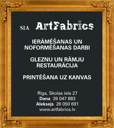 """""""ArtFabrics"""", SIA reklāma Saeimas un Valdības amatpersonu un politiķu kontaktinformācijas katalogā"""