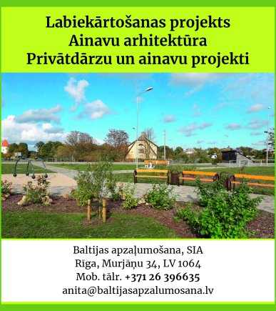 """""""Baltijas apzaļumošana"""", SIA reklāma Saeimas un Valdības amatpersonu un politiķu kontaktinformācijas katalogā"""