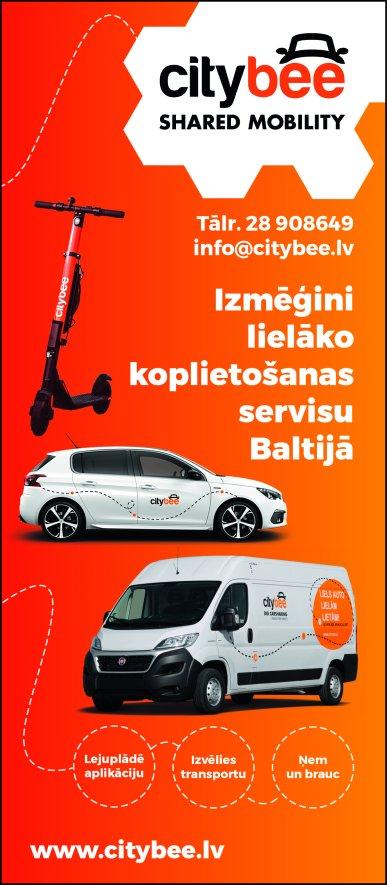 """""""CityBee Latvija"""", SIA, Kravas busu noma reklāma Saeimas un Valdības amatpersonu un politiķu kontaktinformācijas katalogā"""