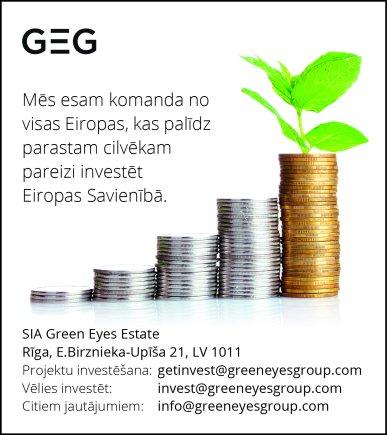 """""""Green Eyes Estate"""", SIA reklāma Saeimas un Valdības amatpersonu un politiķu kontaktinformācijas katalogā"""