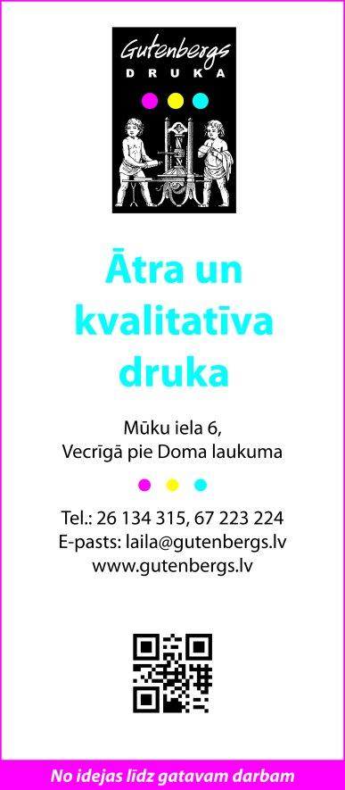 """""""Gutenbergs Druka"""", SIA reklāma Saeimas un Valdības amatpersonu un politiķu kontaktinformācijas katalogā"""