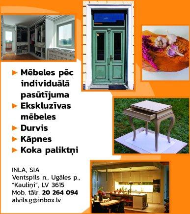 """""""INLA"""", SIA reklāma Saeimas un Valdības amatpersonu un politiķu kontaktinformācijas katalogā"""