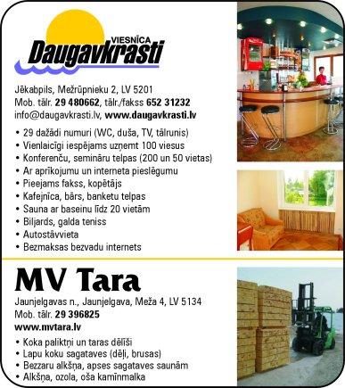 """""""MV Tara"""", SIA reklāma Saeimas un Valdības amatpersonu un politiķu kontaktinformācijas katalogā"""