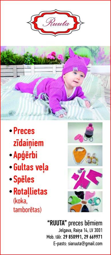 """""""Rūtas darbnīca"""", veikals reklāma Saeimas un Valdības amatpersonu un politiķu kontaktinformācijas katalogā"""