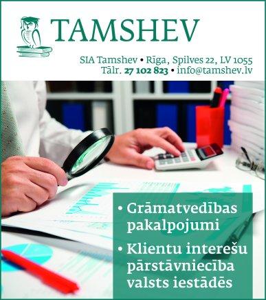 """""""Tamshev"""", SIA reklāma Saeimas un Valdības amatpersonu un politiķu kontaktinformācijas katalogā"""