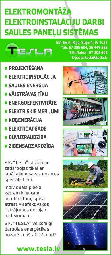 """""""Tesla"""", SIA reklāma Saeimas un Valdības amatpersonu un politiķu kontaktinformācijas katalogā"""