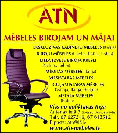 """""""ATN"""", SIA, Veikals reklāma Saeimas un Valdības amatpersonu un politiķu kontaktinformācijas katalogā"""