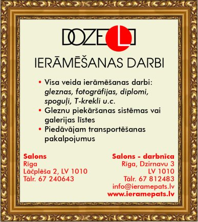 """""""Doze L"""", SIA reklāma Saeimas un Valdības amatpersonu un politiķu kontaktinformācijas katalogā"""
