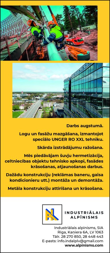 """""""Industriālais alpīnisms"""", SIA reklāma Saeimas un Valdības amatpersonu un politiķu kontaktinformācijas katalogā"""