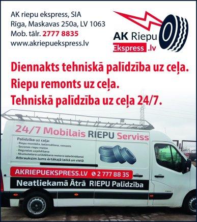 """""""AK riepu ekspress"""", SIA reklāma Saeimas un Valdības amatpersonu un politiķu kontaktinformācijas katalogā"""