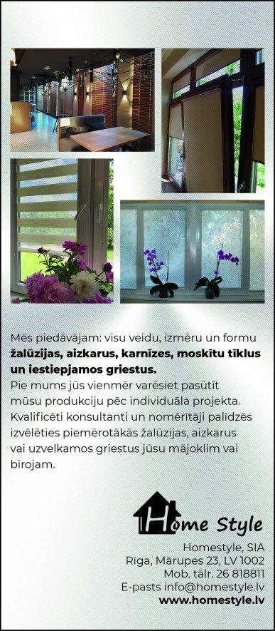"""""""Homestyle"""", SIA reklāma Saeimas un Valdības amatpersonu un politiķu kontaktinformācijas katalogā"""