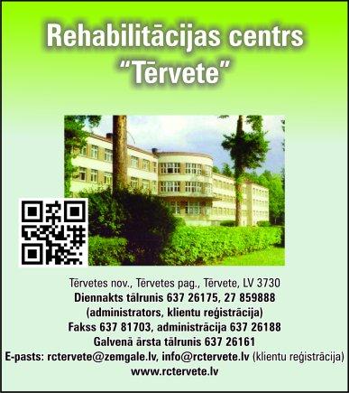 """""""Rehabilitācijas centrs Tērvete"""", SIA reklāma Saeimas un Valdības amatpersonu un politiķu kontaktinformācijas katalogā"""